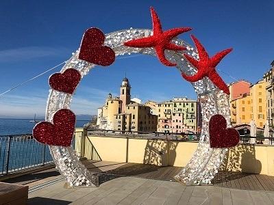 Arco amore lungomare Camogli