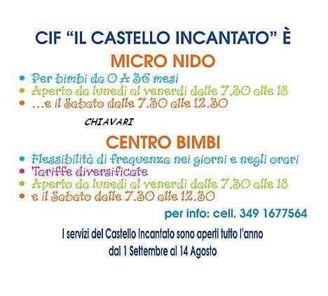 Asilo Nido CAstello Incantato a Chiavari