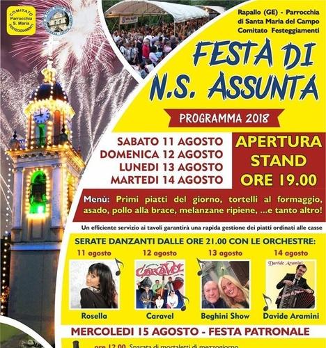 festa mariaassuntarapallo2018