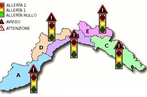 mappa_semafori_idro allerta meteo 3 ottobre
