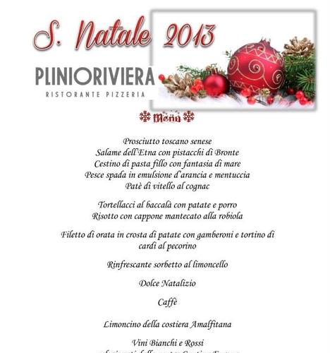 menu natale 2013 ristorante plinioriviera rapallo