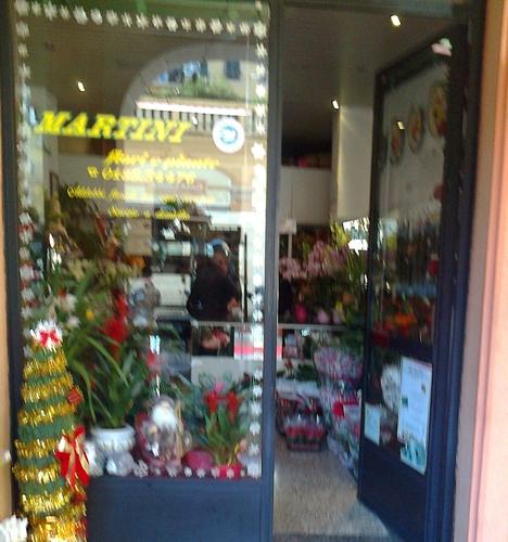 negozio martini esterno fiori